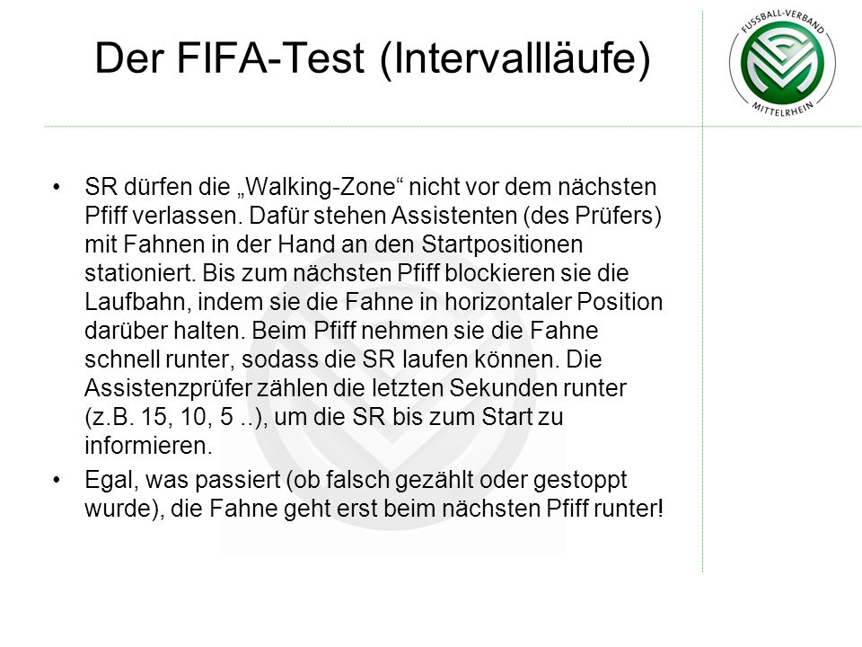 Der FIFA-Test (Intervallläufe)