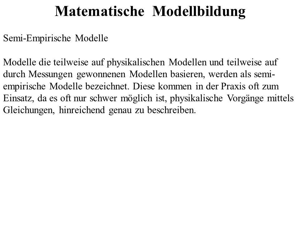 Matematische Modellbildung