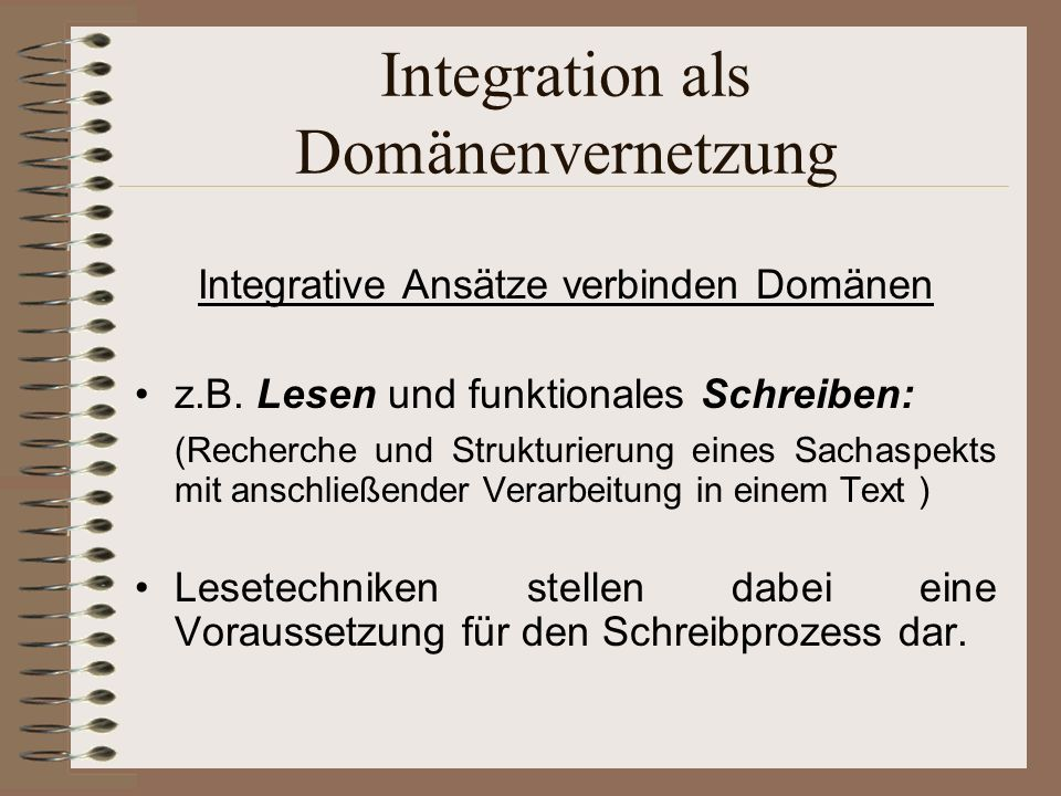 Integration als Domänenvernetzung
