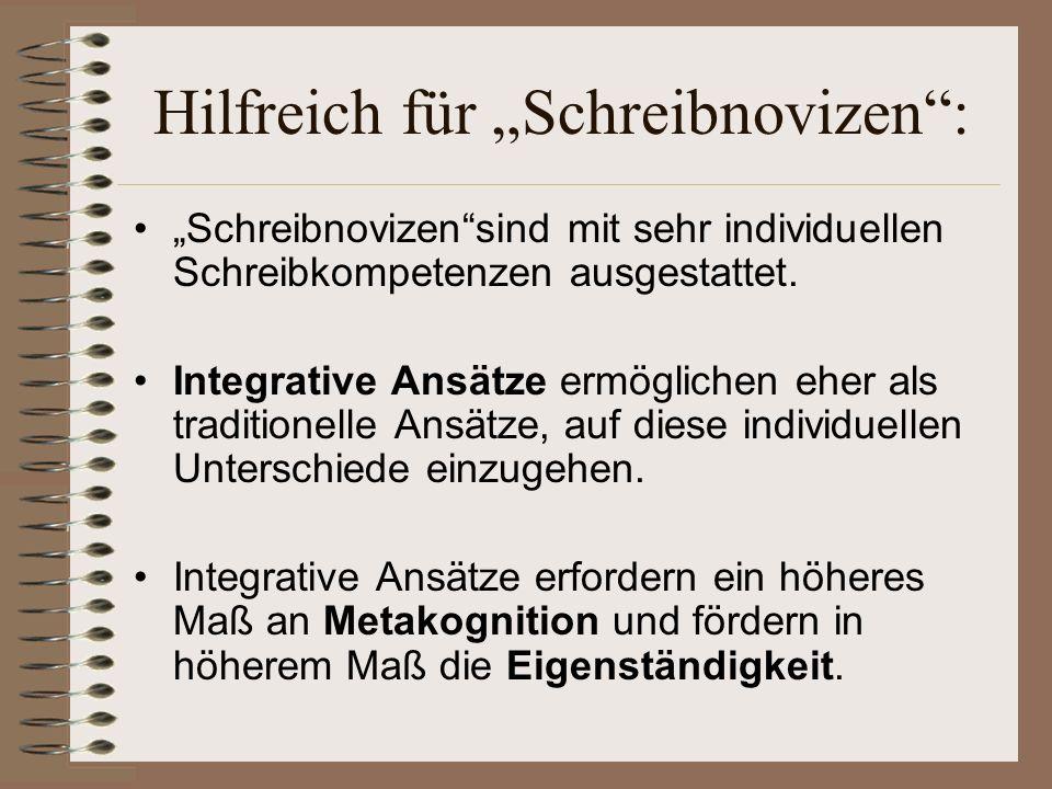 """Hilfreich für """"Schreibnovizen :"""