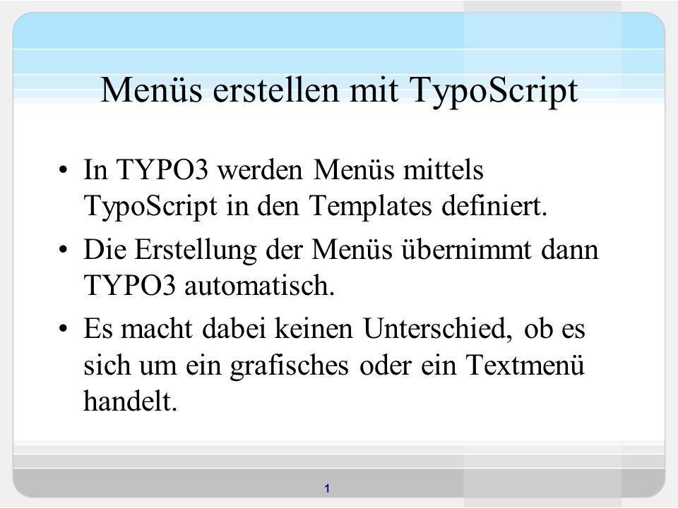 Menüs erstellen mit TypoScript