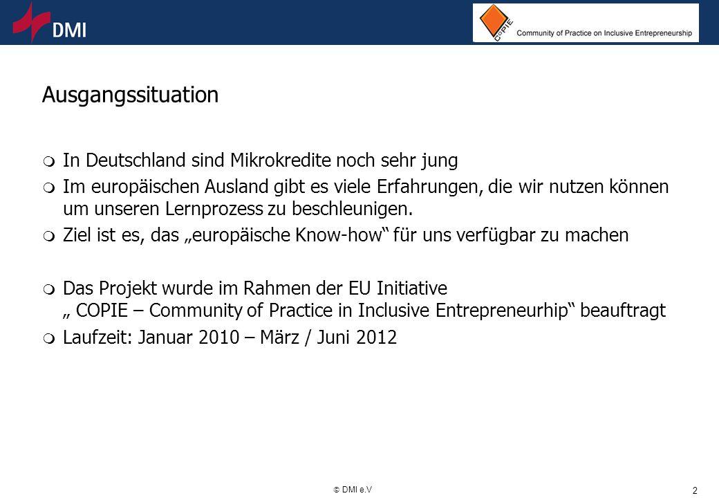 Ausgangssituation In Deutschland sind Mikrokredite noch sehr jung