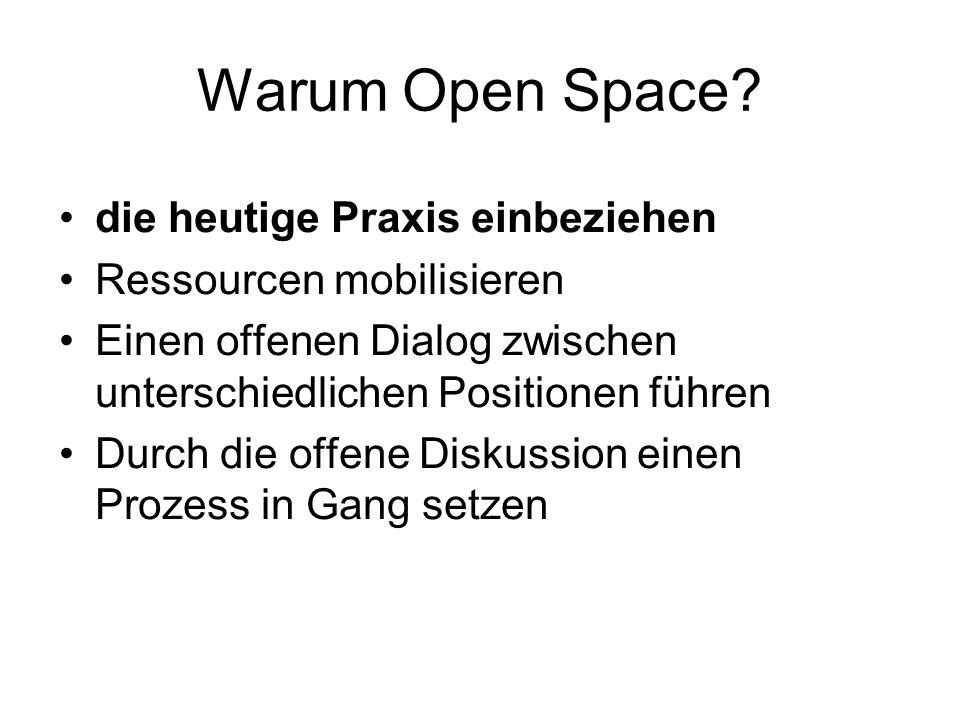 Warum Open Space die heutige Praxis einbeziehen