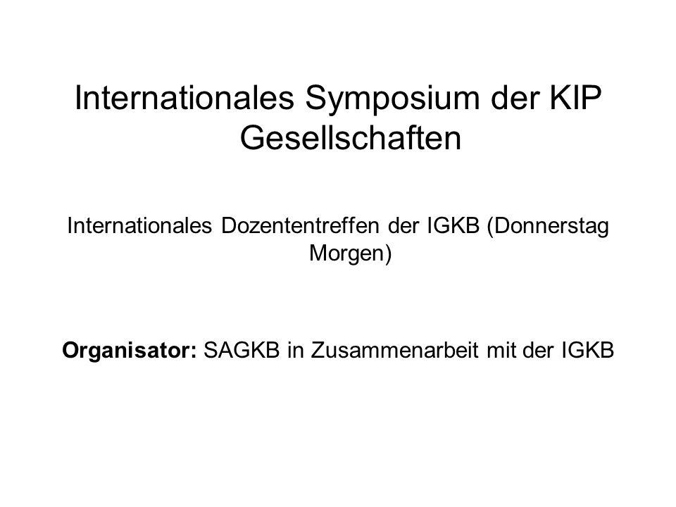 Internationales Symposium der KIP Gesellschaften