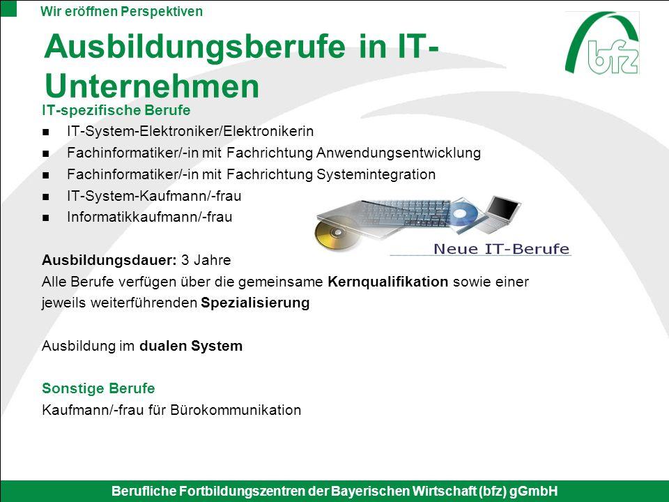 Ausbildungsberufe in IT-Unternehmen