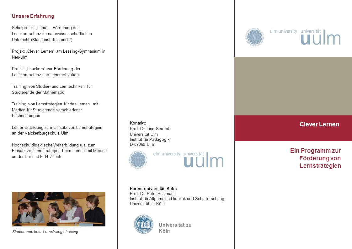 Ein Programm zur Förderung von Lernstrategien