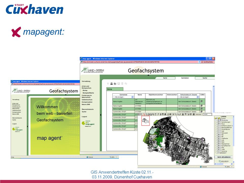 GIS Anwendertreffen Küste 02.11.-03.11.2009, Dünenhof Cuxhaven