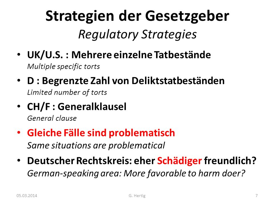 Strategien der Gesetzgeber Regulatory Strategies