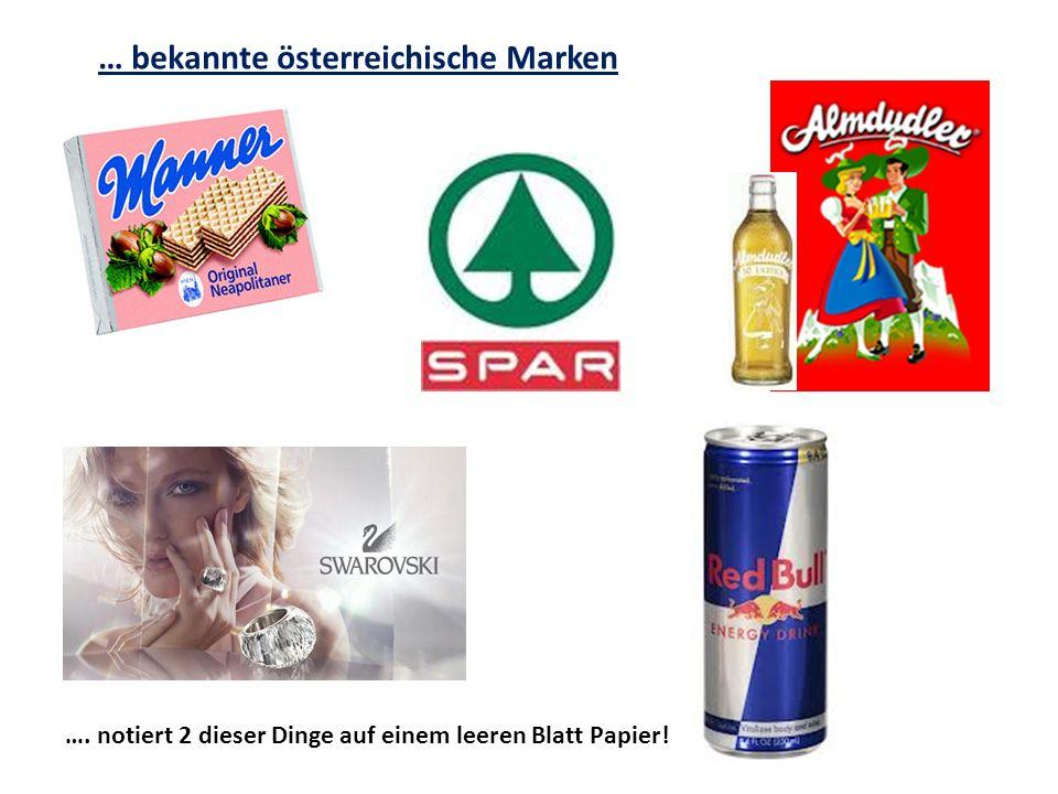 … bekannte österreichische Marken