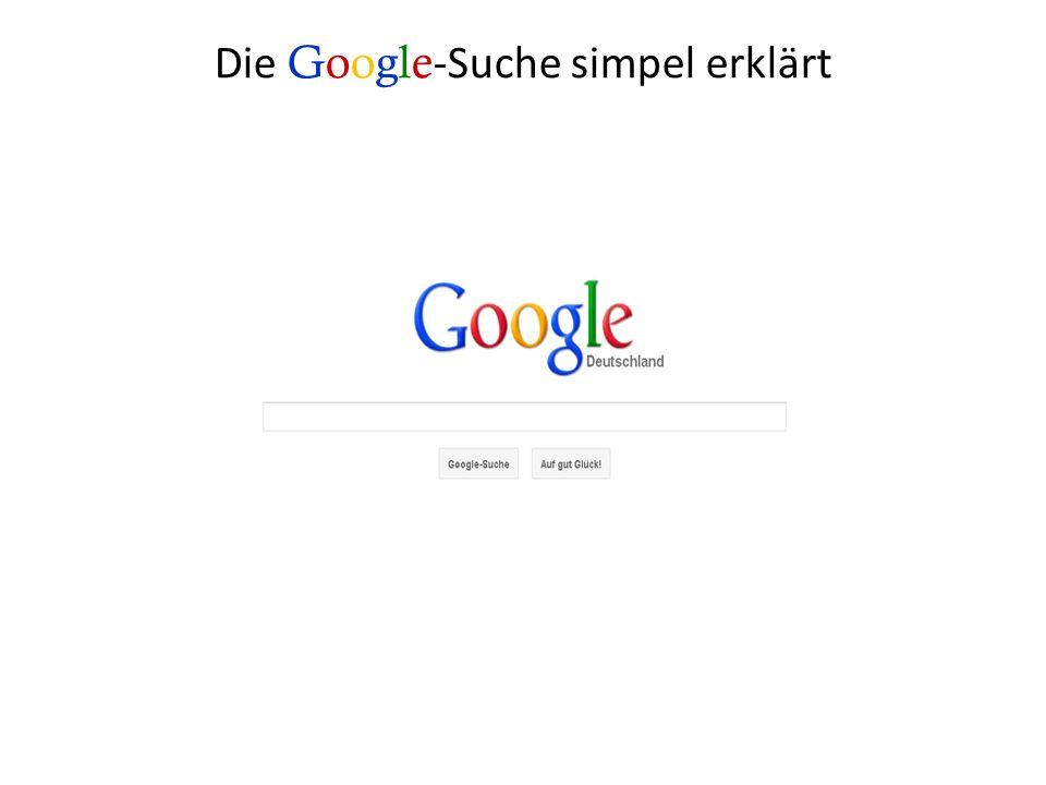 Die Google-Suche simpel erklärt