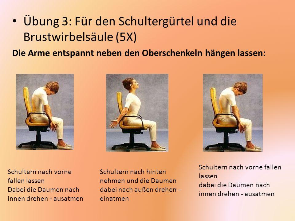 Übung 3: Für den Schultergürtel und die Brustwirbelsäule (5X)