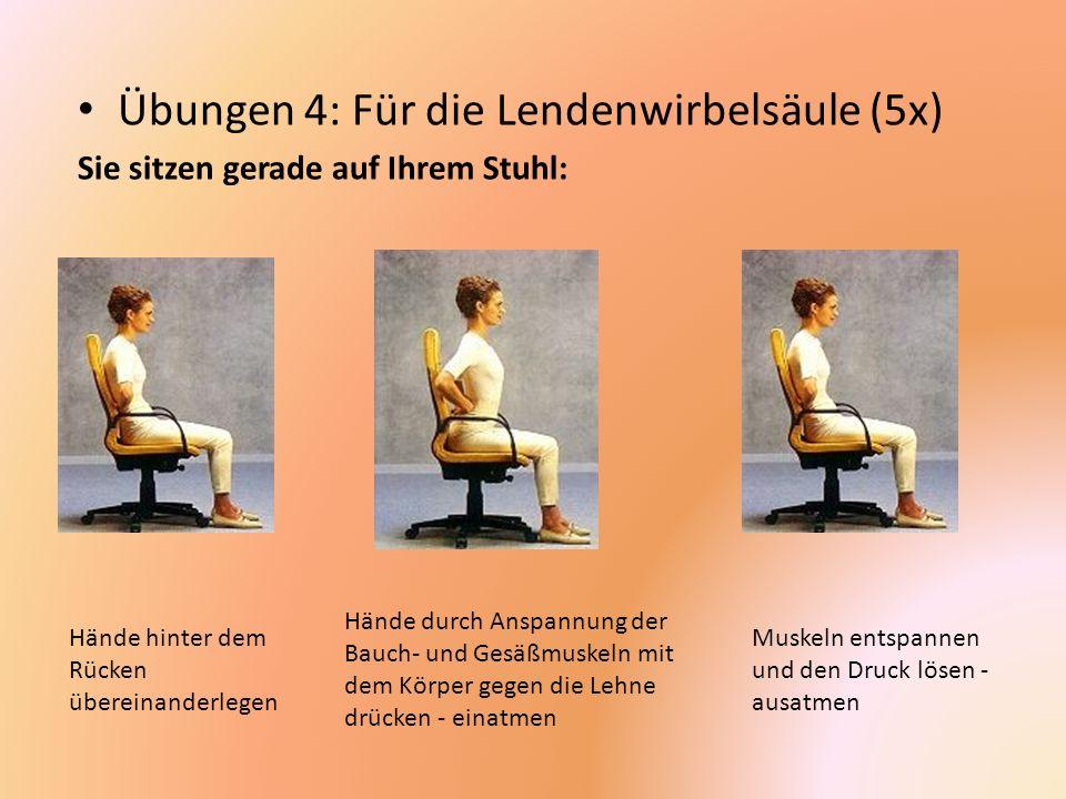 Übungen 4: Für die Lendenwirbelsäule (5x)
