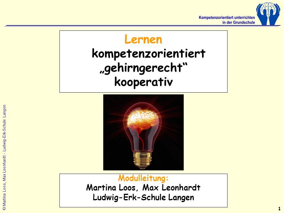 "Lernen kompetenzorientiert ""gehirngerecht kooperativ"