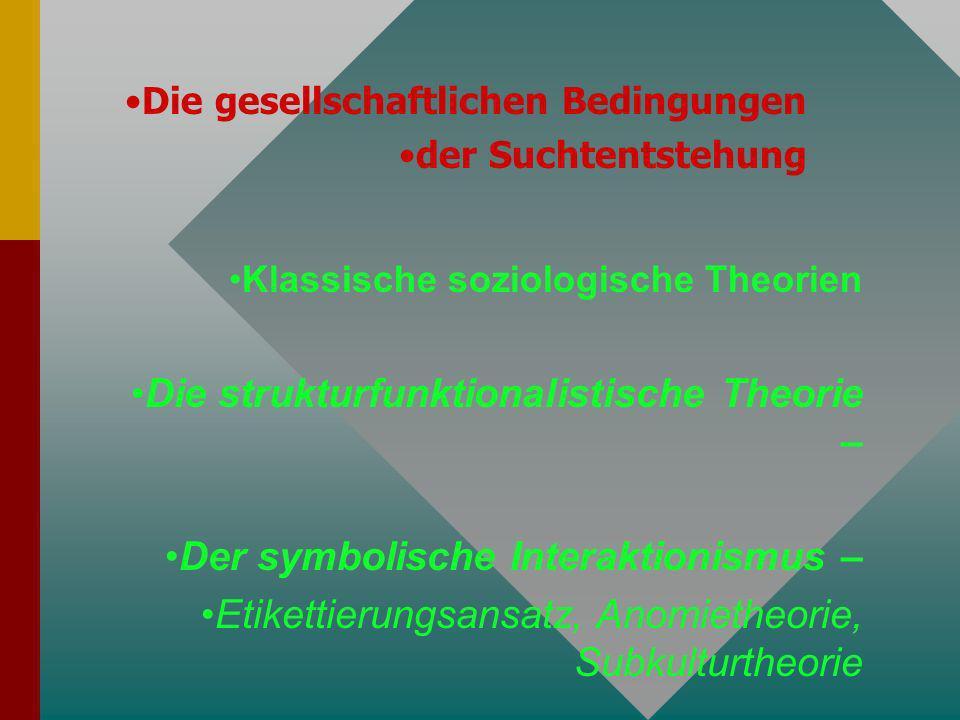 Die strukturfunktionalistische Theorie –