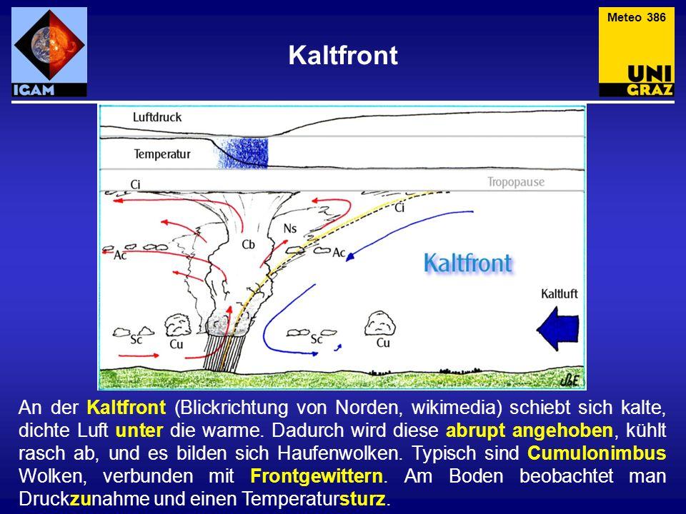 Meteo 386 Kaltfront.