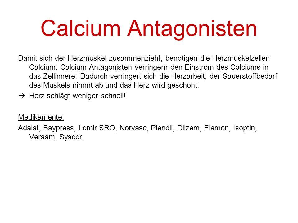Calcium Antagonisten