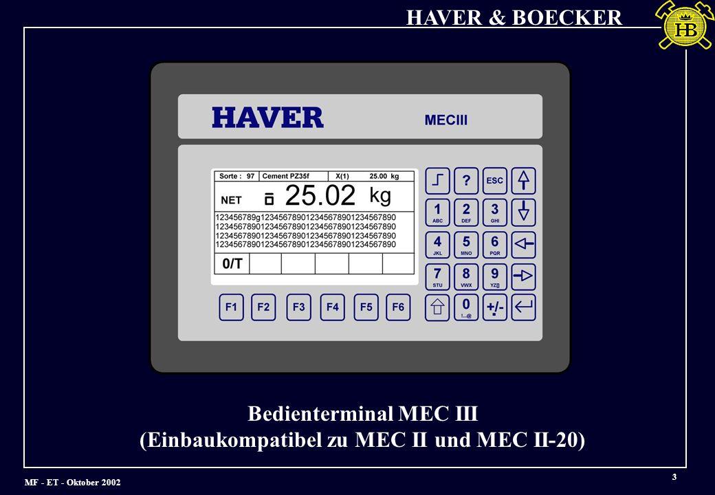 Bedienterminal MEC III (Einbaukompatibel zu MEC II und MEC II-20)