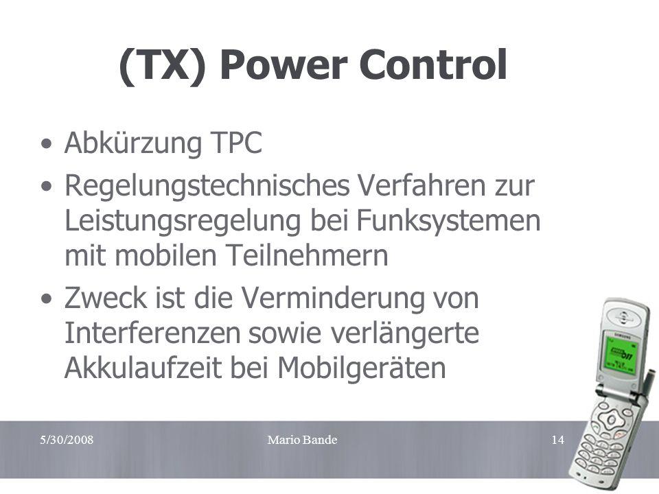 (TX) Power Control Abkürzung TPC