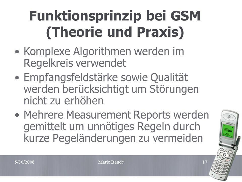Funktionsprinzip bei GSM (Theorie und Praxis)
