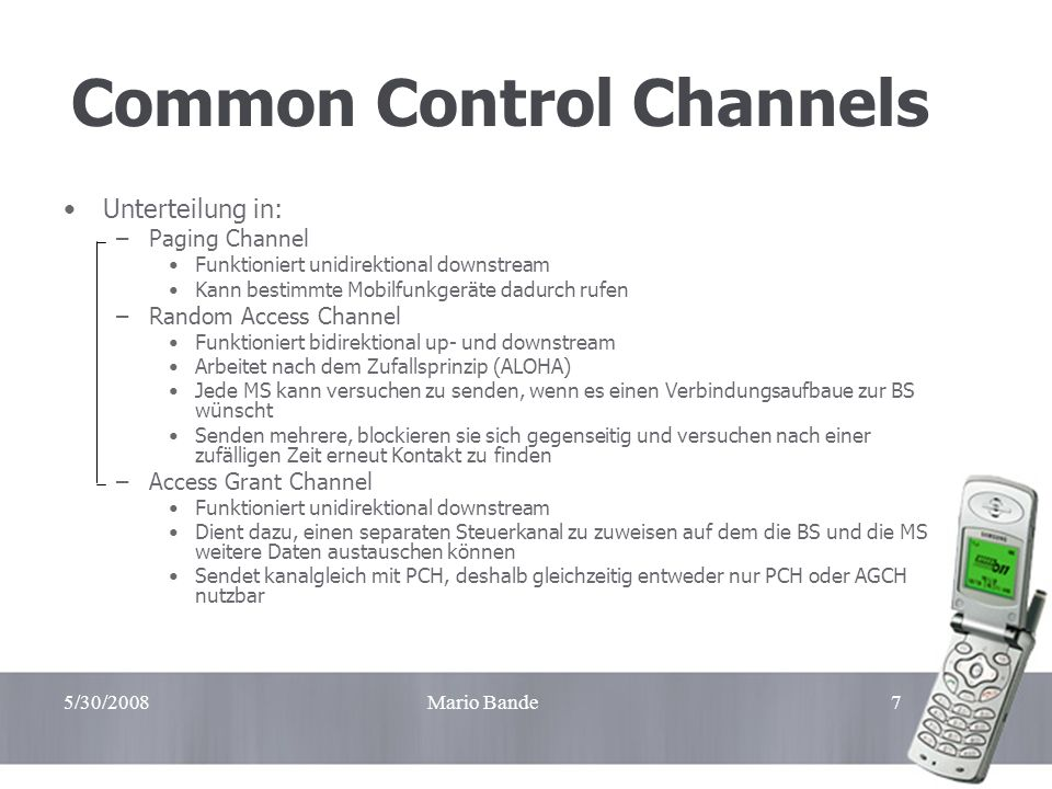 Common Control Channels