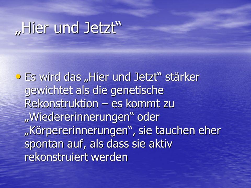 """""""Hier und Jetzt"""