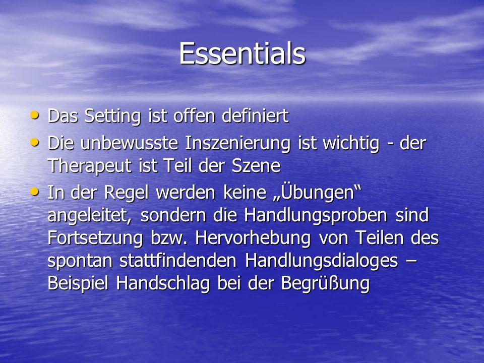 Essentials Das Setting ist offen definiert