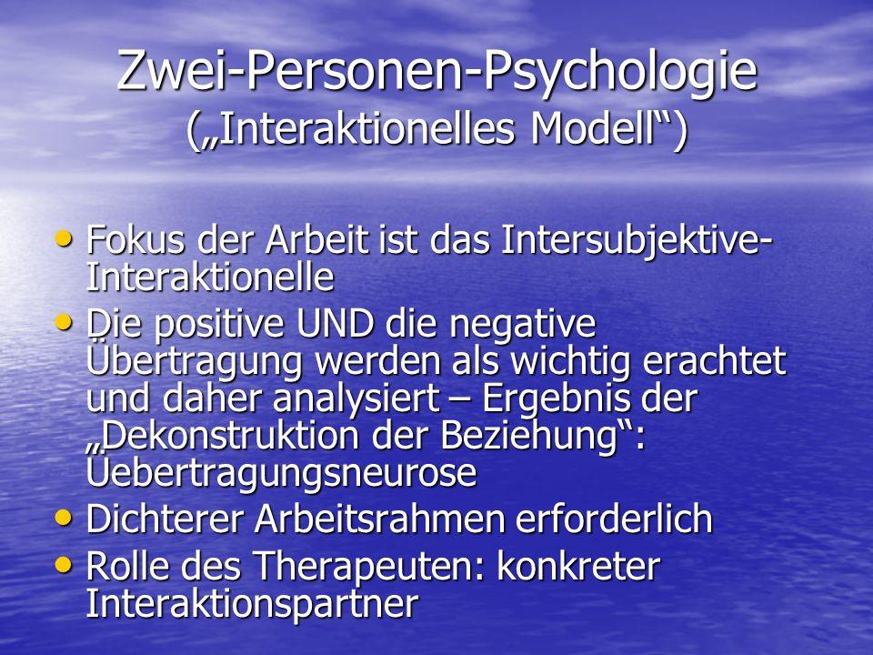 """Zwei-Personen-Psychologie (""""Interaktionelles Modell )"""