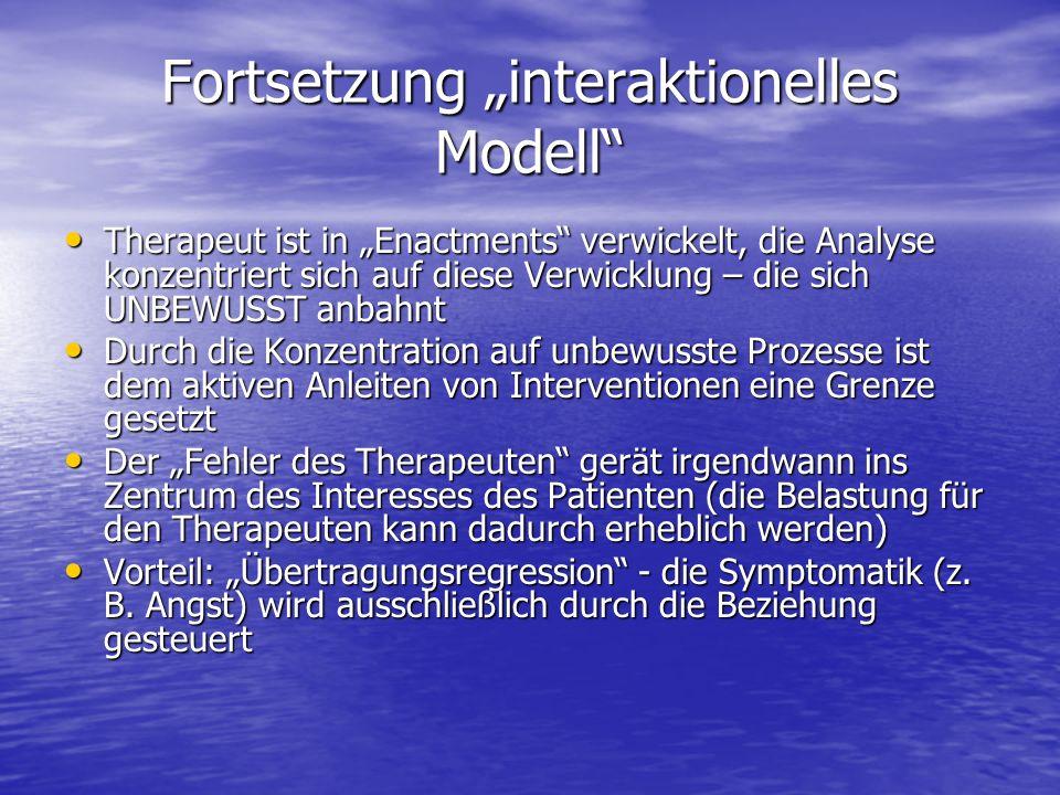 """Fortsetzung """"interaktionelles Modell"""
