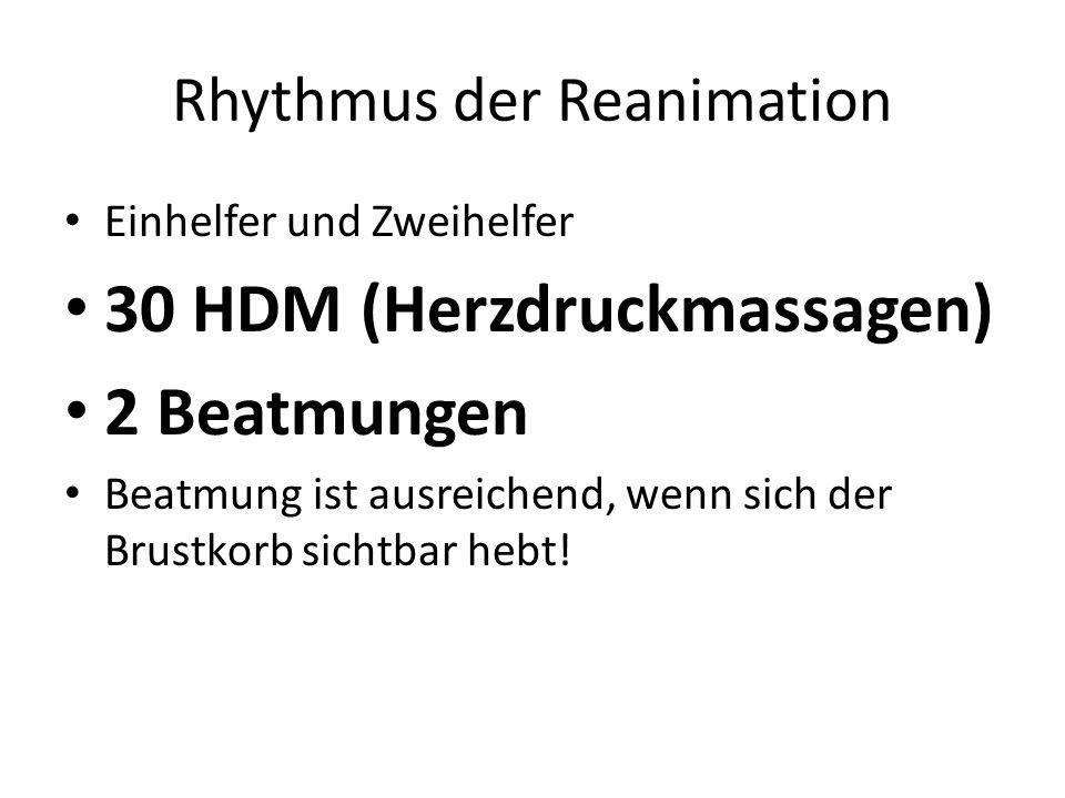 Rhythmus der Reanimation
