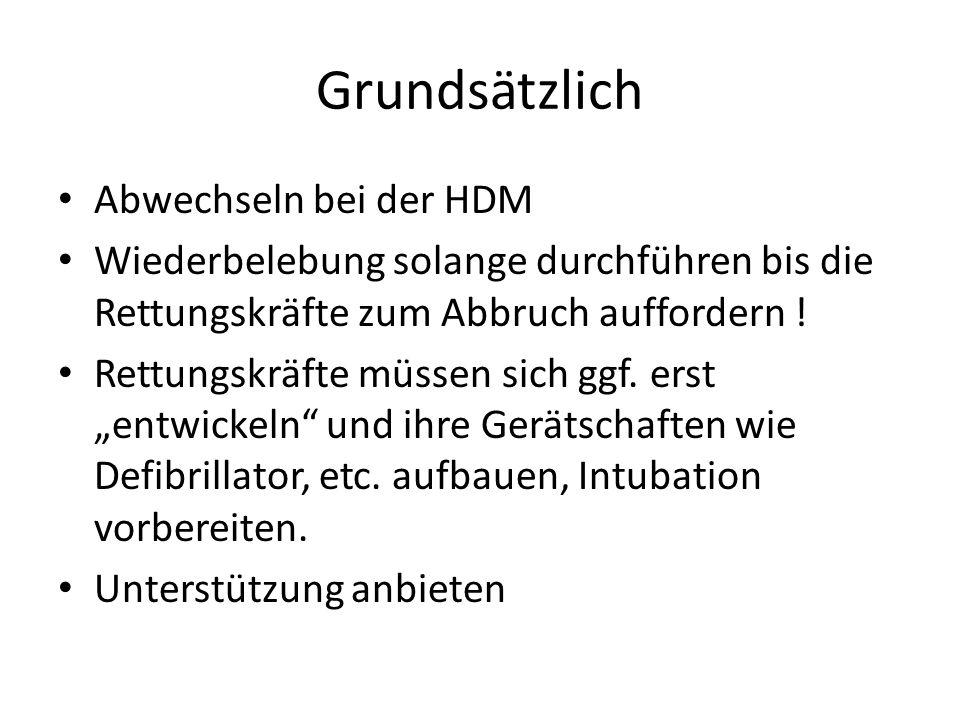 Grundsätzlich Abwechseln bei der HDM