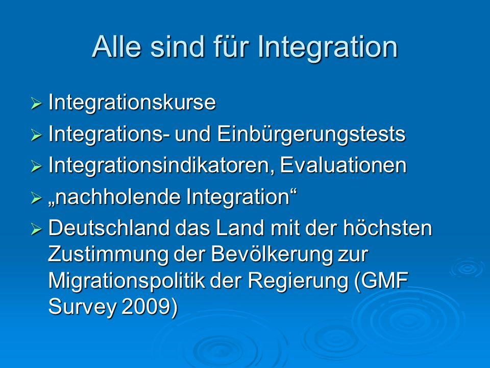 Alle sind für Integration