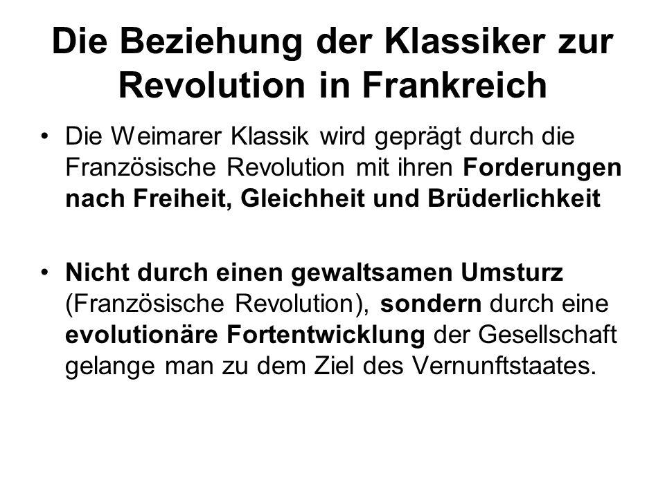Die Beziehung der Klassiker zur Revolution in Frankreich