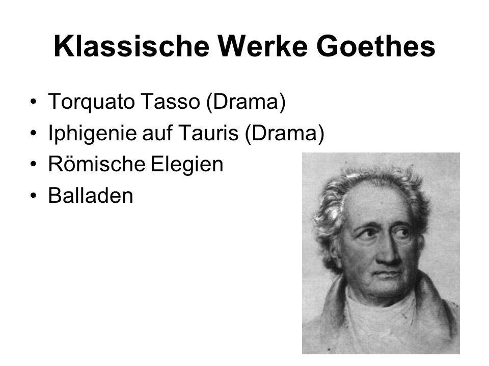 Klassische Werke Goethes