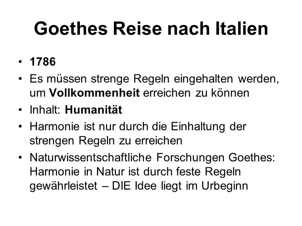 Goethes Reise nach Italien