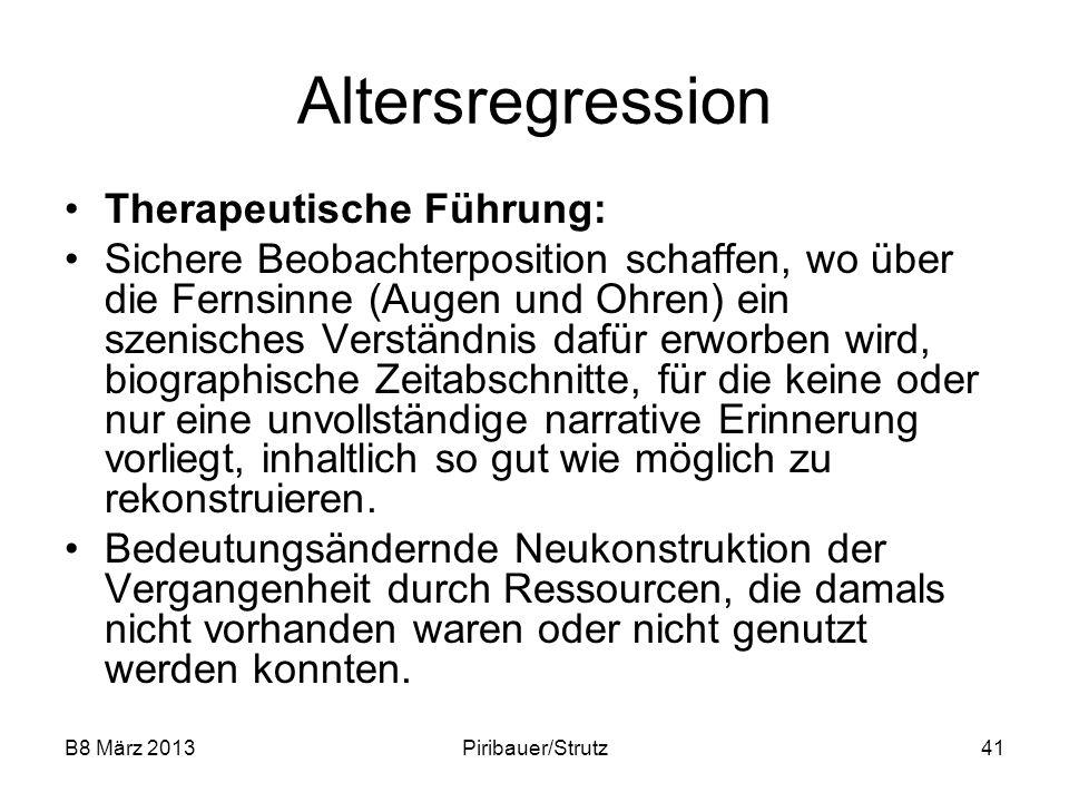 Altersregression Therapeutische Führung: