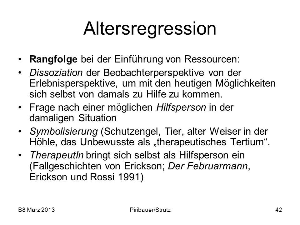 Altersregression Rangfolge bei der Einführung von Ressourcen: