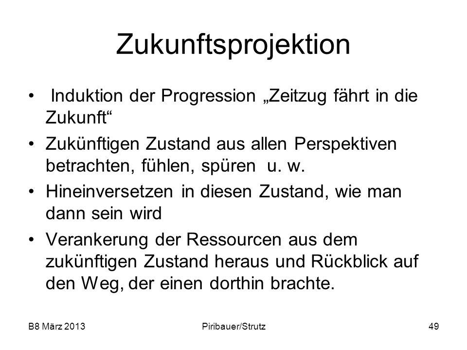 """Zukunftsprojektion Induktion der Progression """"Zeitzug fährt in die Zukunft"""