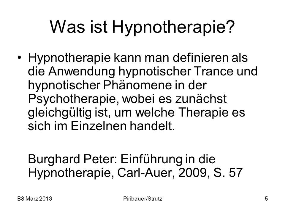 Was ist Hypnotherapie