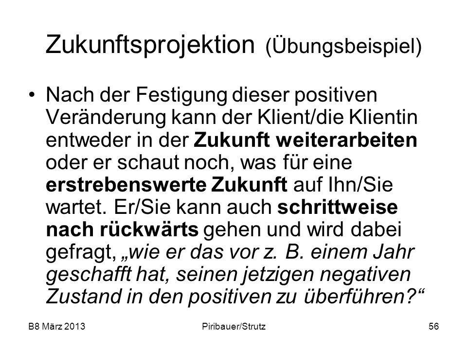 Zukunftsprojektion (Übungsbeispiel)