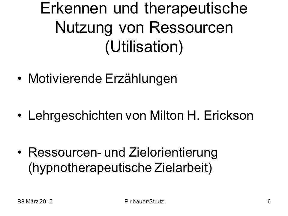 Erkennen und therapeutische Nutzung von Ressourcen (Utilisation)