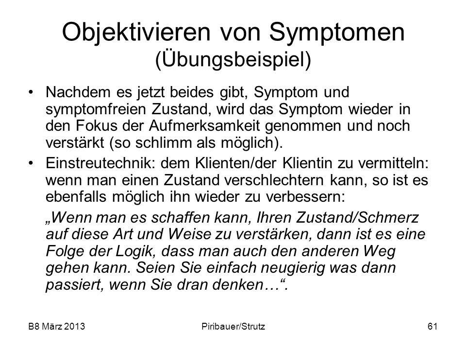 Objektivieren von Symptomen (Übungsbeispiel)