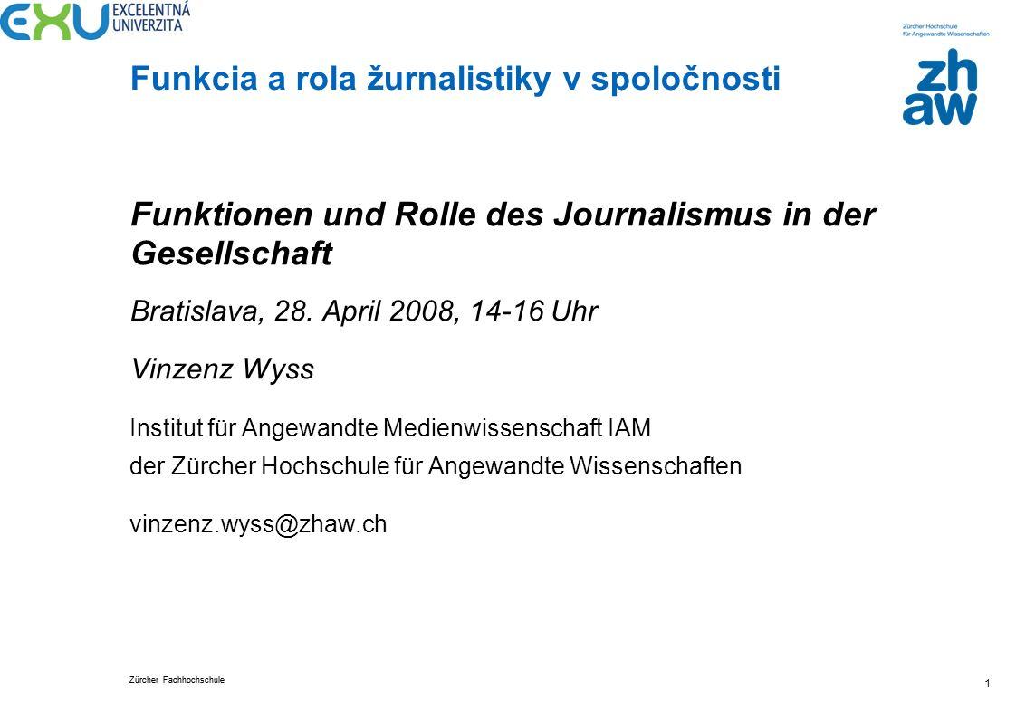 Funktionen und Rolle des Journalismus in der Gesellschaft