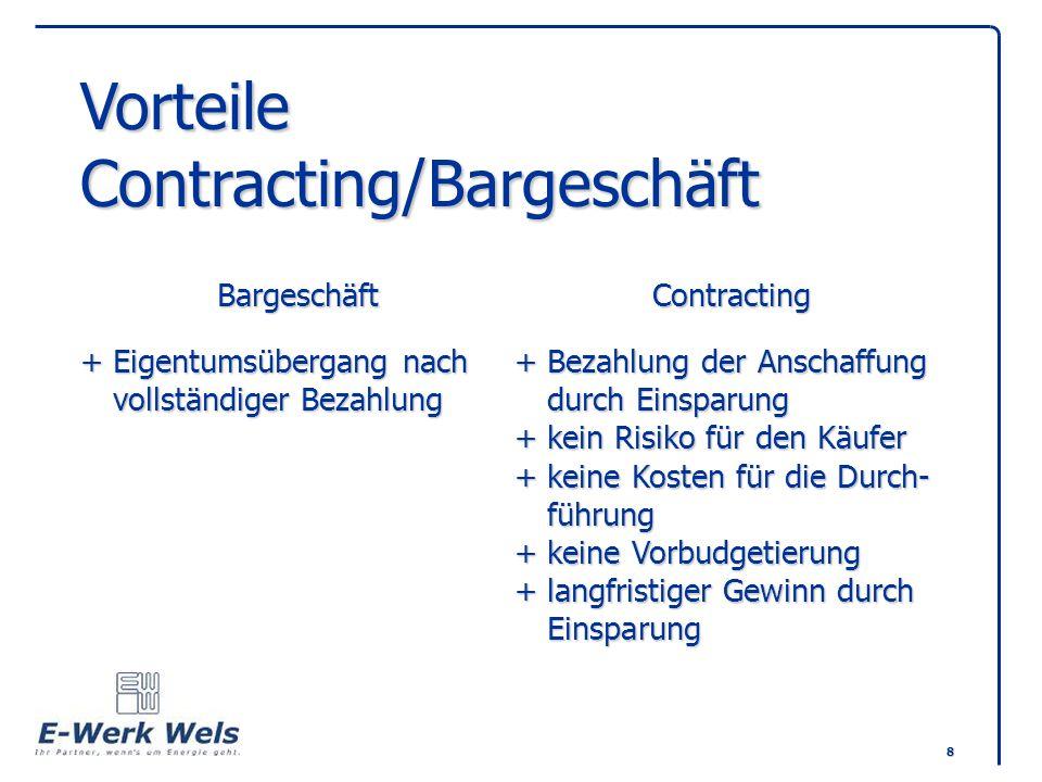 Vorteile Contracting/Bargeschäft. Bargeschäft. Contracting +
