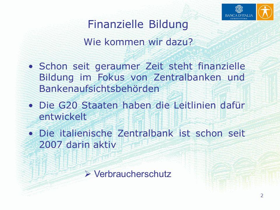 Finanzielle Bildung Wie kommen wir dazu