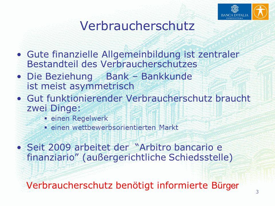 Verbraucherschutz Gute finanzielle Allgemeinbildung ist zentraler Bestandteil des Verbraucherschutzes.