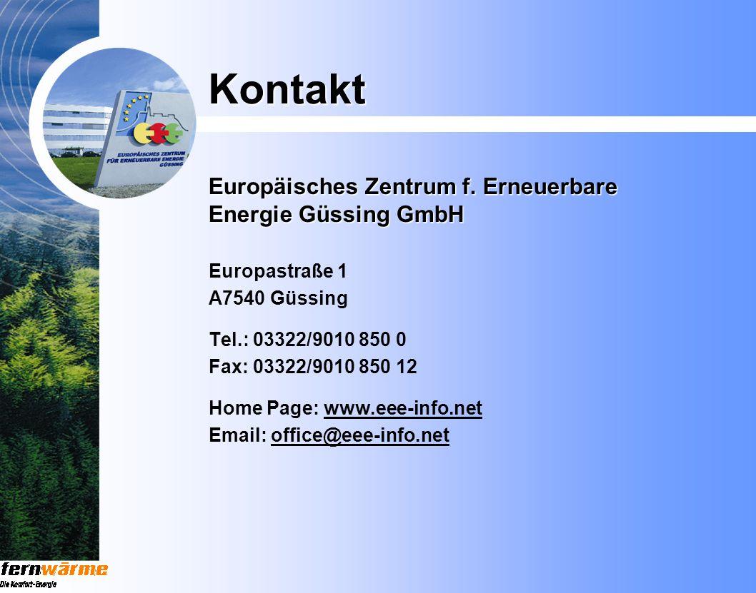 Kontakt Europäisches Zentrum f. Erneuerbare Energie Güssing GmbH