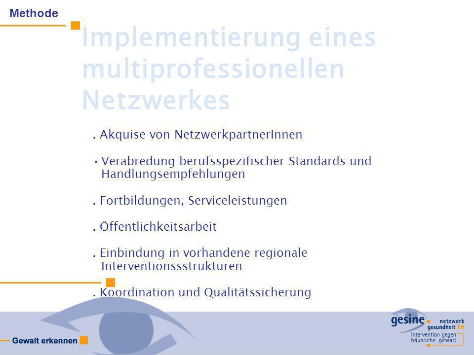 Implementierung eines multiprofessionellen Netzwerkes