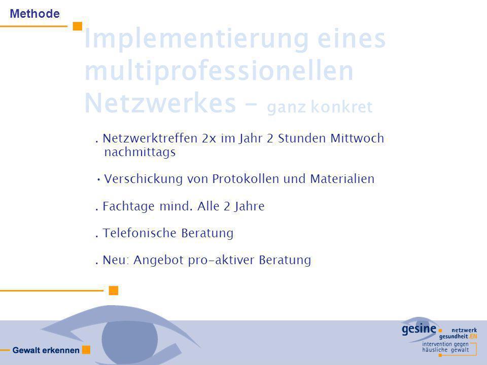 Implementierung eines multiprofessionellen Netzwerkes – ganz konkret
