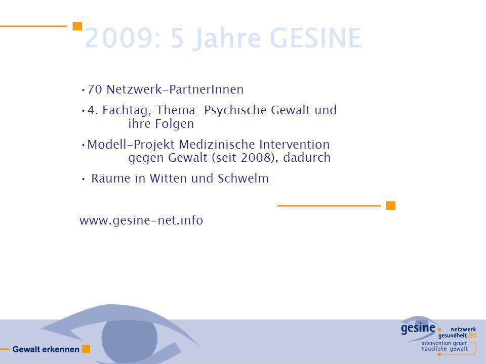 2009: 5 Jahre GESINE 70 Netzwerk-PartnerInnen