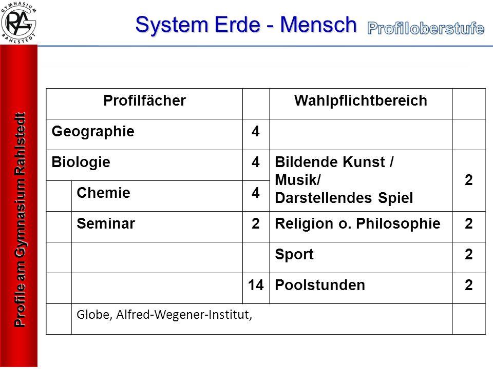 System Erde - Mensch Profilfächer Wahlpflichtbereich Geographie 4